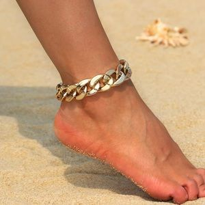 Jewelry - Gold Chunky Cuban Link Anklet
